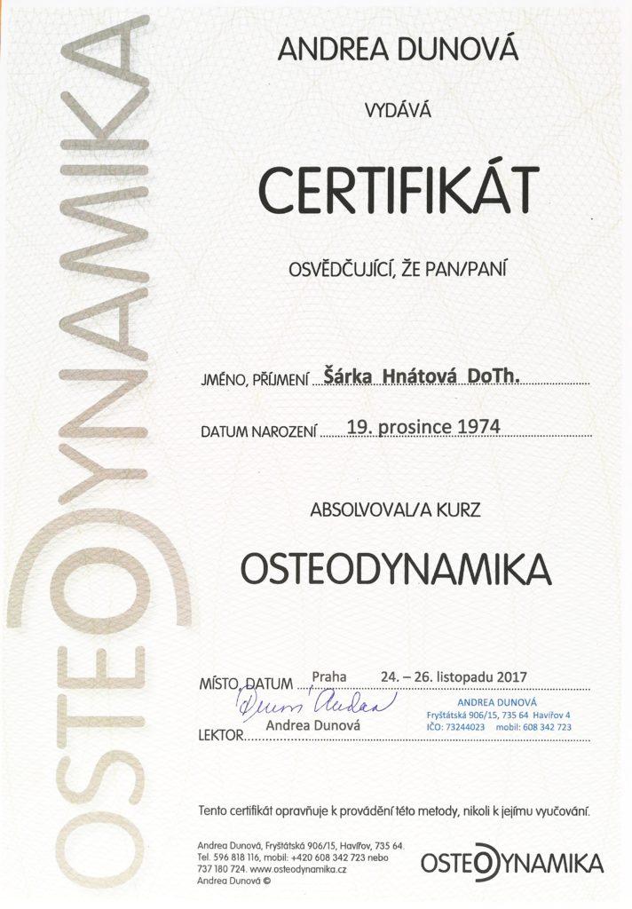 osteodynamika šárka